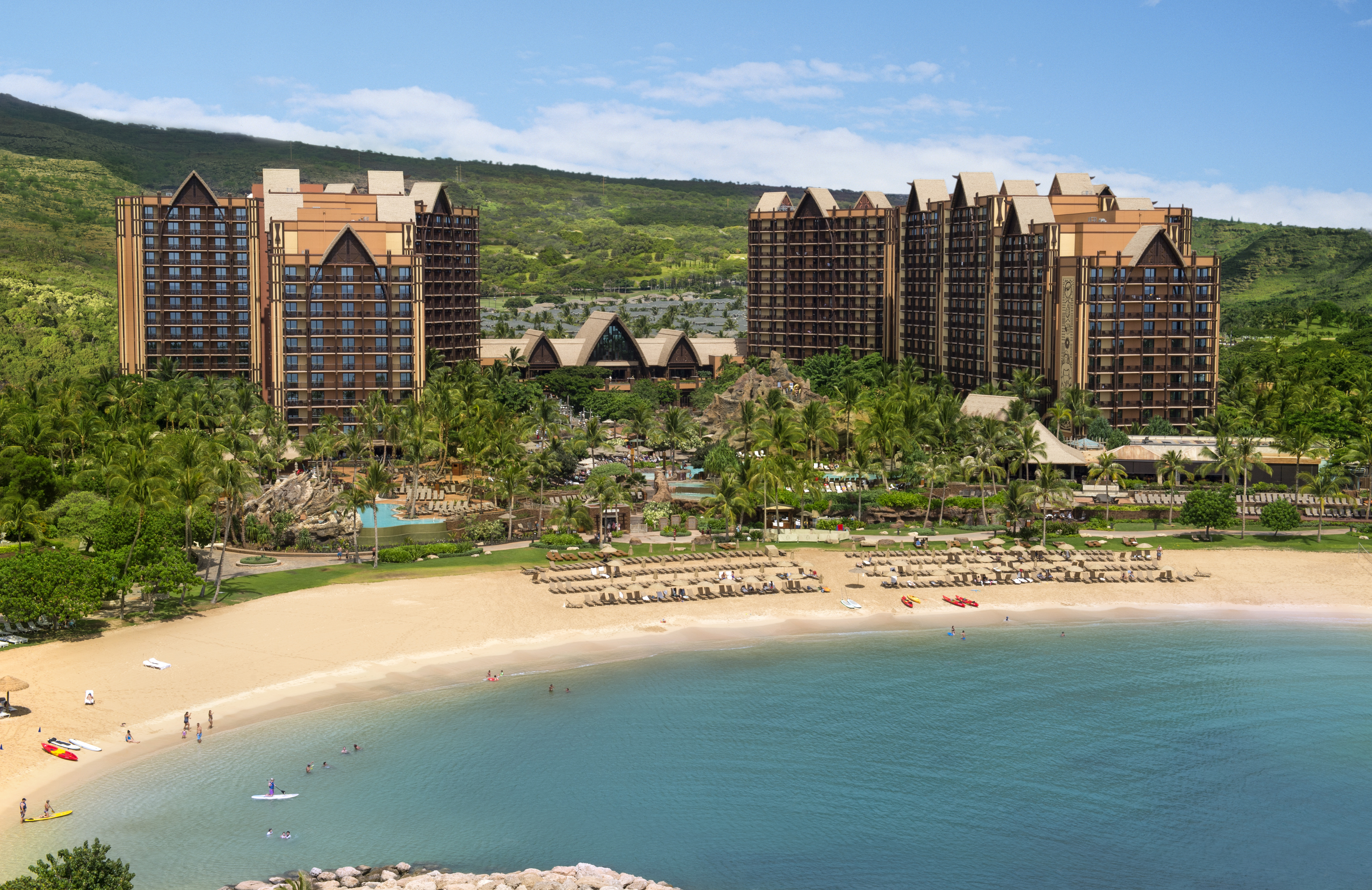 Aulani Resort and spa arial view