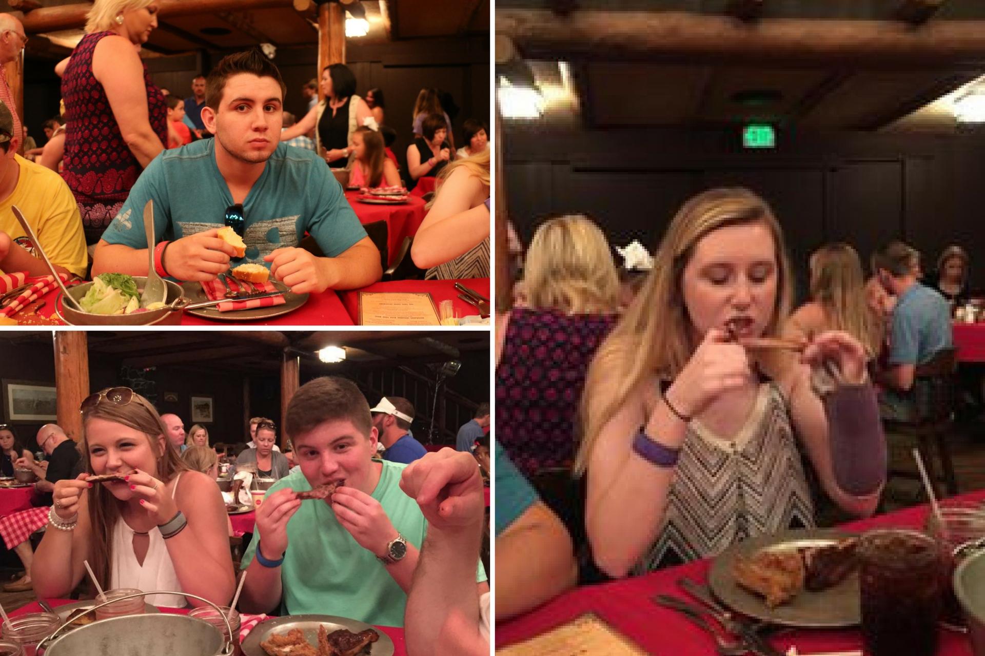 people eating at hoop dee doo