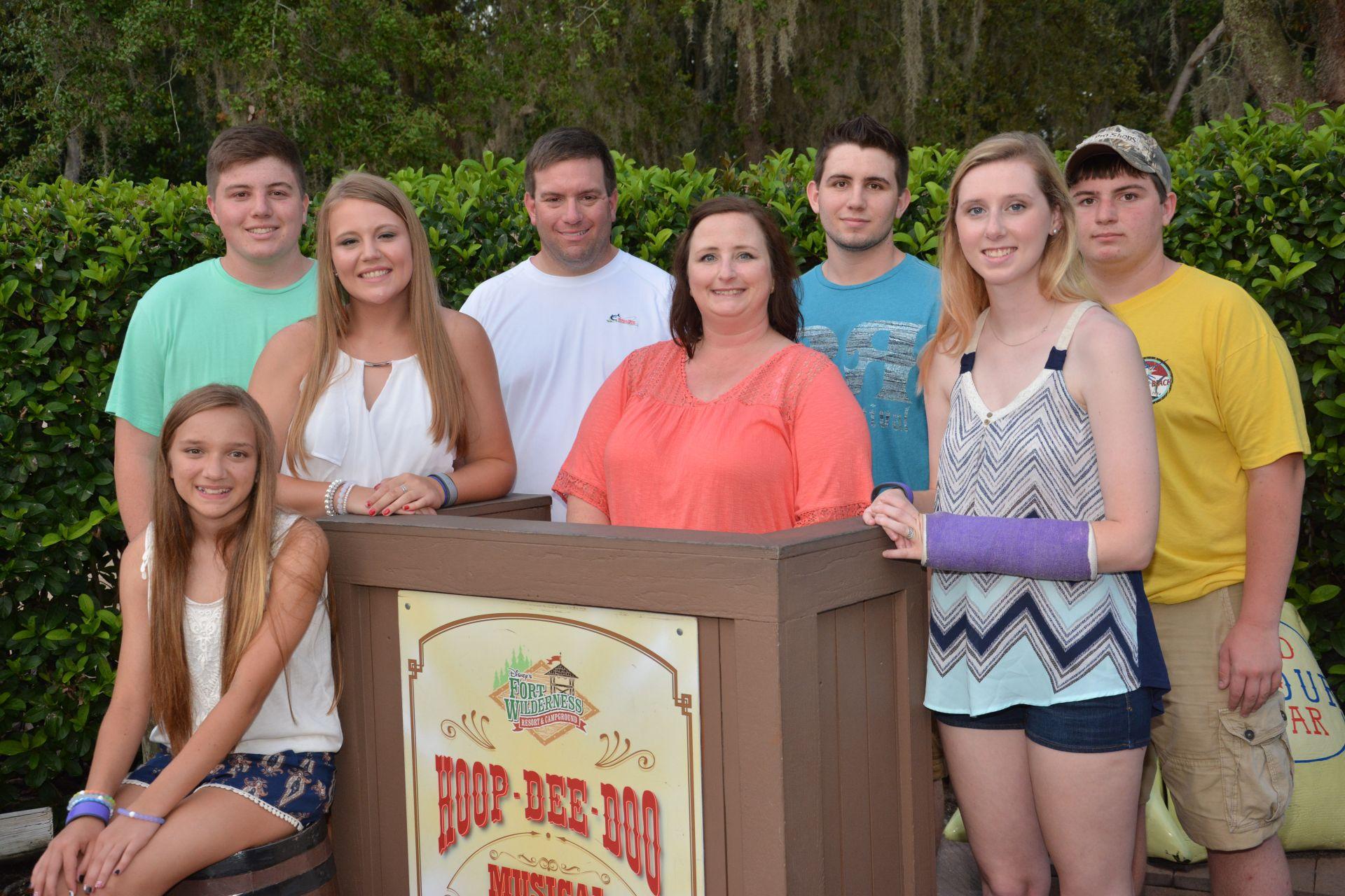 family at hoop dee doo