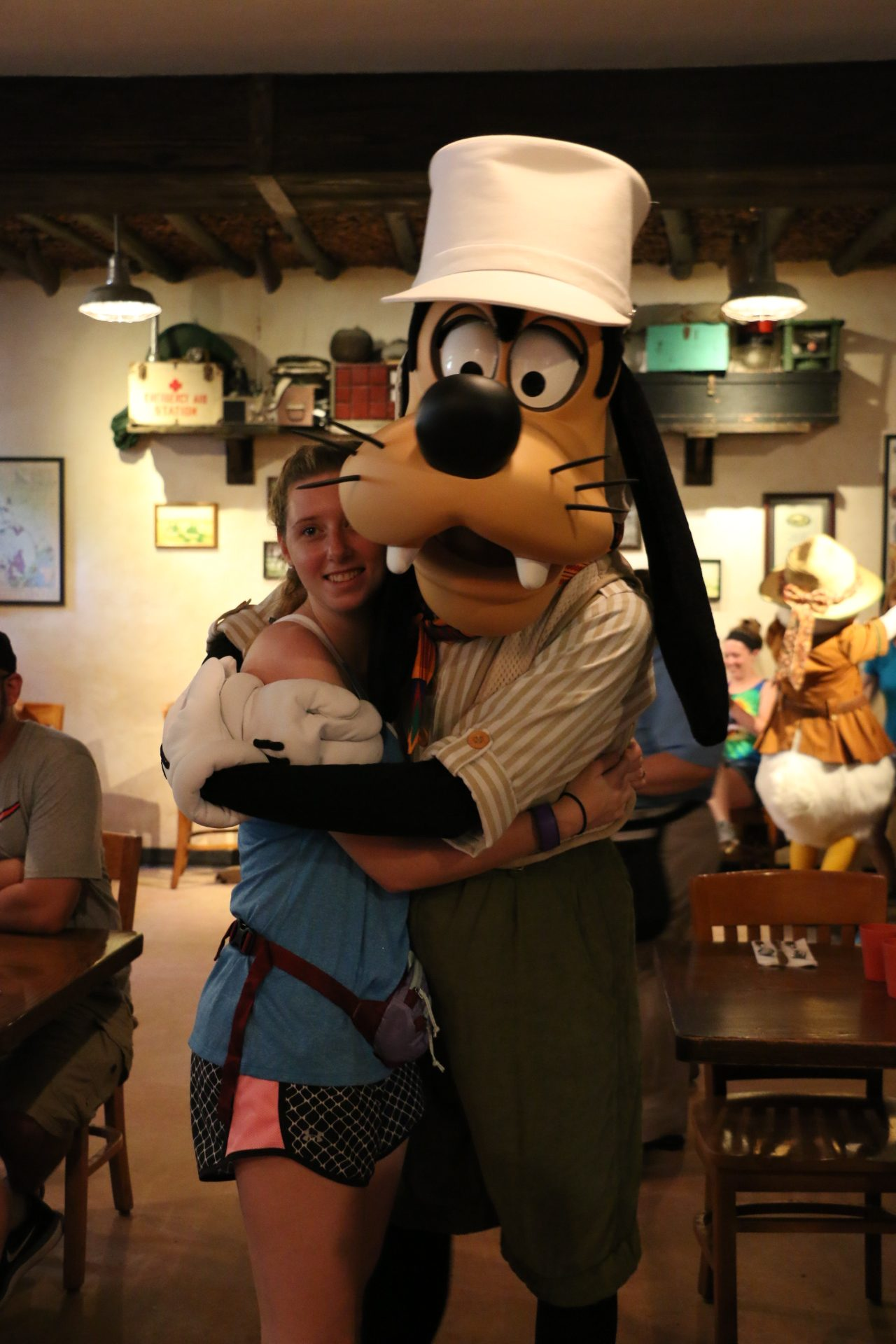 rachael and goofy at tusker house