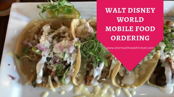 Disney World Mobile Food Ordering